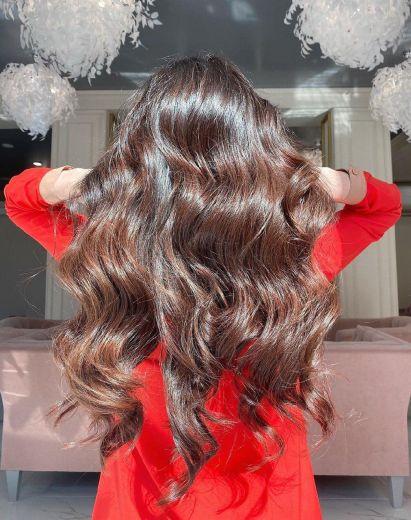 Обьем после укладки и стрижки волос